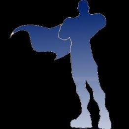 Superhero silhouette 2