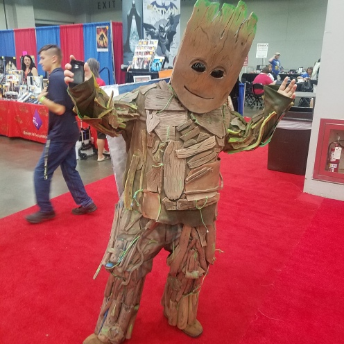 This Groot had a cardboard tape deck that played his theme music!