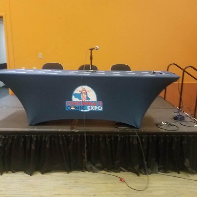 My panel table minutes before my panel.