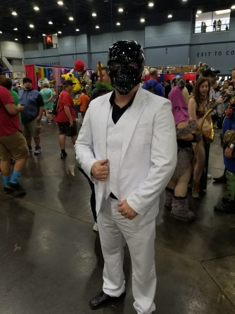 Black mask was sharp,even down to the suit